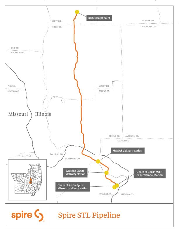 Spire STL Pipeline map